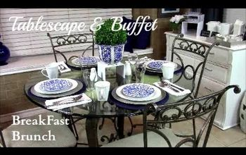 How to Create a Breakfast Brunch Tablescape & Buffet Setting