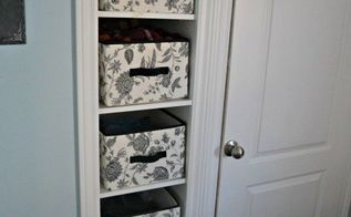 finding storage in surprising places, closet, organizing, storage ideas