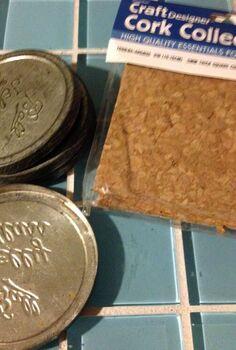 vintage mason canning jar lids become geometric coasters, crafts, mason jars, repurposing upcycling