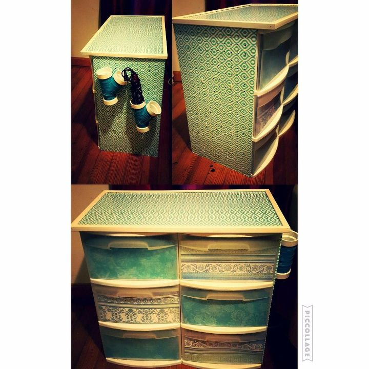 diy plastic bin redo, storage ideas