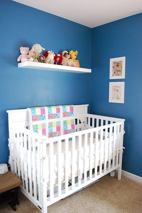 bold bright and blue a nursery makeover hometalk