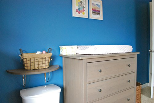 Bold Bright And Blue A Nursery Makeover Bedroom Ideas Painting