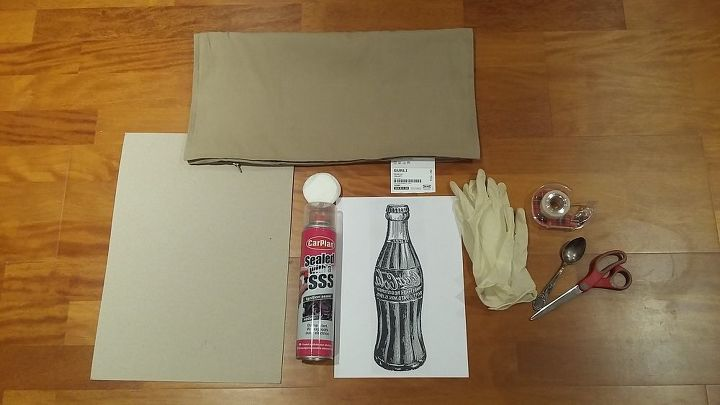 vintage coca cola transfer on the pillowcase easy and precise, crafts, how to, reupholster