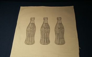 Vintage Coca-Cola Transfer on the Pillowcase, Easy and Precise