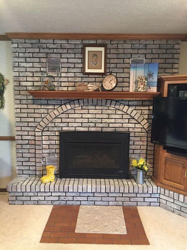 fireplace redo, chalk paint, fireplaces mantels, painting
