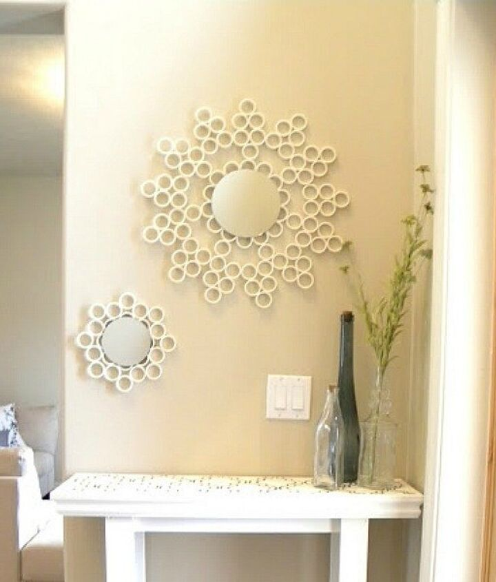 s 15 ridiculously cool uses for leftover pvc pipe, crafts, repurposing upcycling, Make a Modern Style Mirror