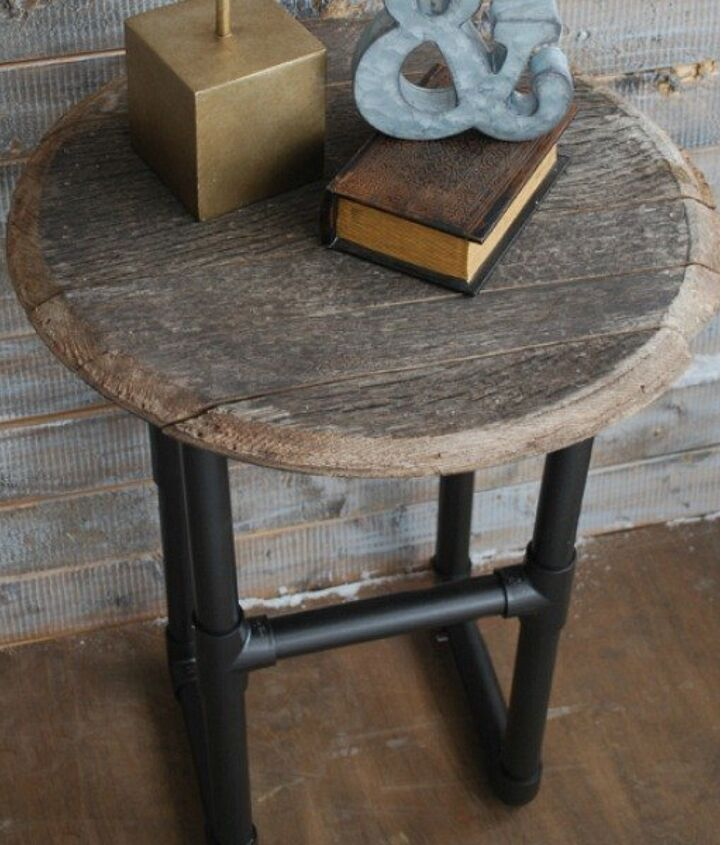 s 15 ridiculously cool uses for leftover pvc pipe, crafts, repurposing upcycling, Build an Industrial Chic Side Table