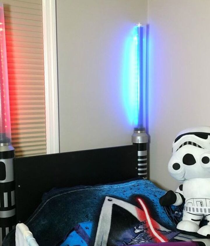 s 15 ridiculously cool uses for leftover pvc pipe, crafts, repurposing upcycling, Make a Glowing Lightsaber Headboard