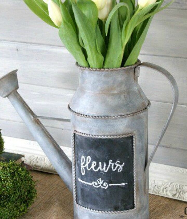 s 9 budget ways to add gleaming metallic accents, crafts, home decor, Cover decor in a galvanized finish