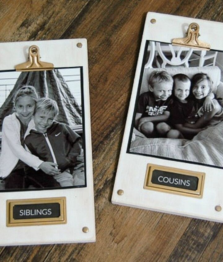 s 9 budget ways to add gleaming metallic accents, crafts, home decor, Add metal hardware to cute picture plaques