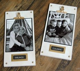 Add Metal Hardware To Cute Picture Plaques