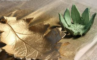 handcrafted air dry clay leaf bowls, crafts, how to