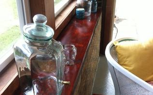 diy faux butcher block countertop, countertops, diy, home decor, Staging tip Use what you already have