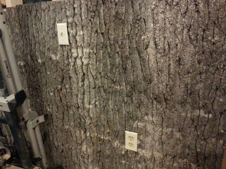 Bark walls harvesting poplar bark hometalk for Tree trunk wall art