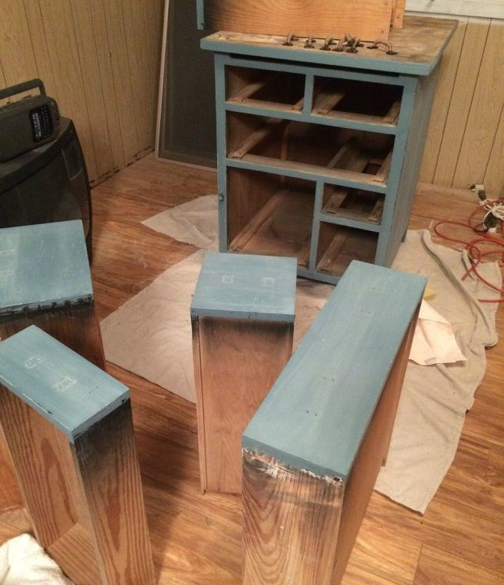 Chair Kitchen Countertop Remodel: Beat Up Garage Cabinet Becomes A Custom Kitchen Countertop
