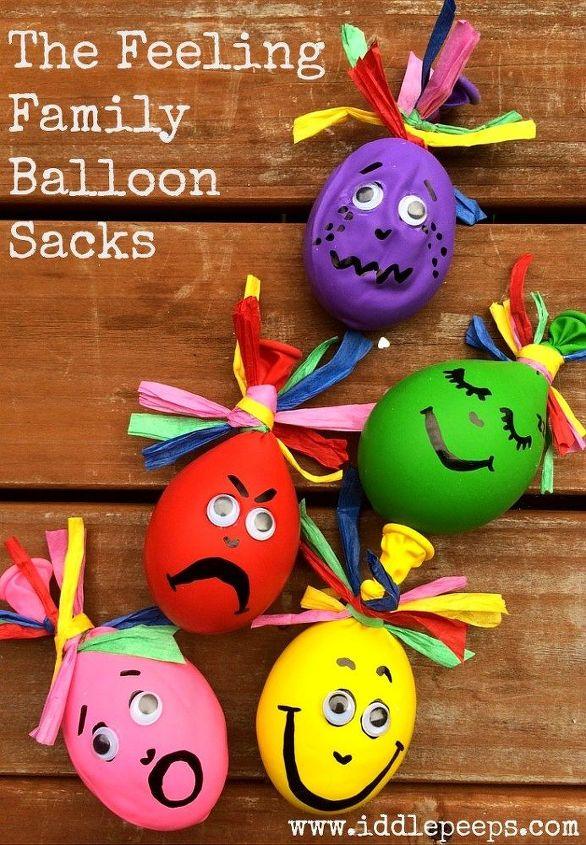 the feeling family balloon sacks, crafts