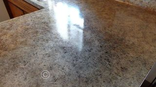 , DIY painted counter tops to look like granite