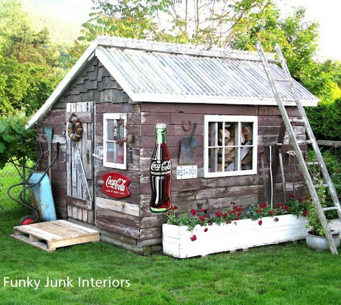 This Dreamy Lumber Hut. 11 Sheds to Show Your Handy Husband This Summer   Hometalk