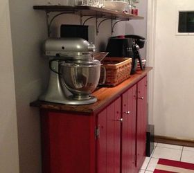 the shelves are open but you could do the same thing inside the cabinet  how can i add shelves to my tall kitchen cupboard to use wasted      rh   hometalk com