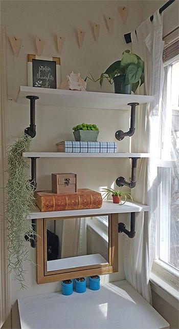 DIY Industrial Shelves   Hometalk