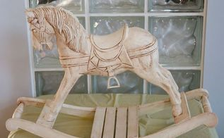 white horse, chalk paint, crafts, painted furniture
