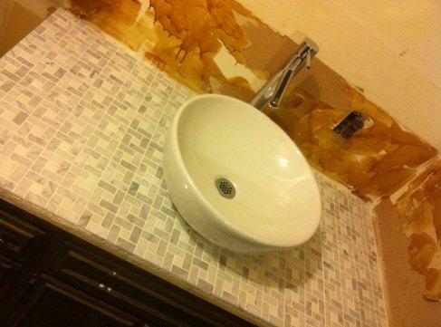 fixerupperstyle diy bathroom vanity, bathroom ideas, countertops, diy, painted furniture, tiling, woodworking projects