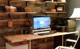 upcycled work station, doors, painted furniture, pallet, repurposing upcycling, wall decor