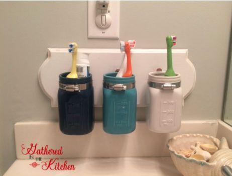 Diy mason jar toothbrush holder hometalk diy mason jar toothbrush holder craft rooms mason jars organizing small bathroom solutioingenieria Gallery