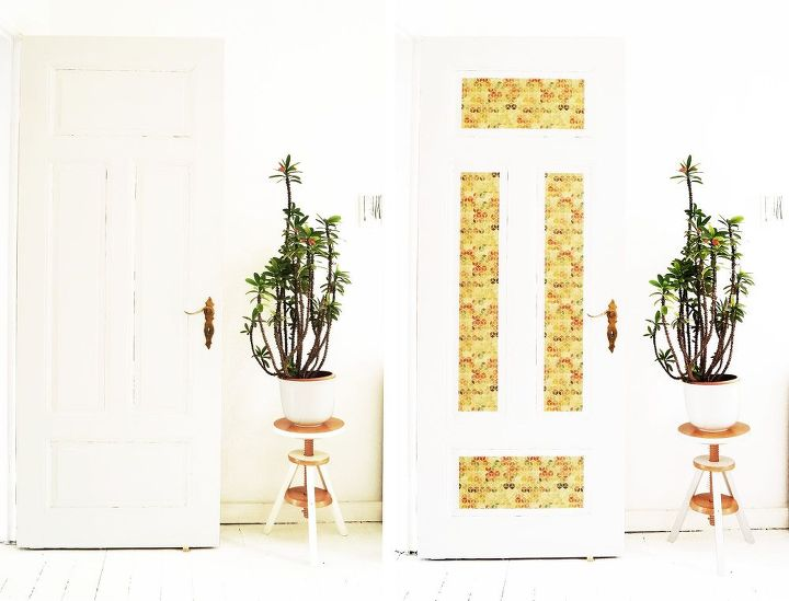 door makeover with design film, doors, wall decor