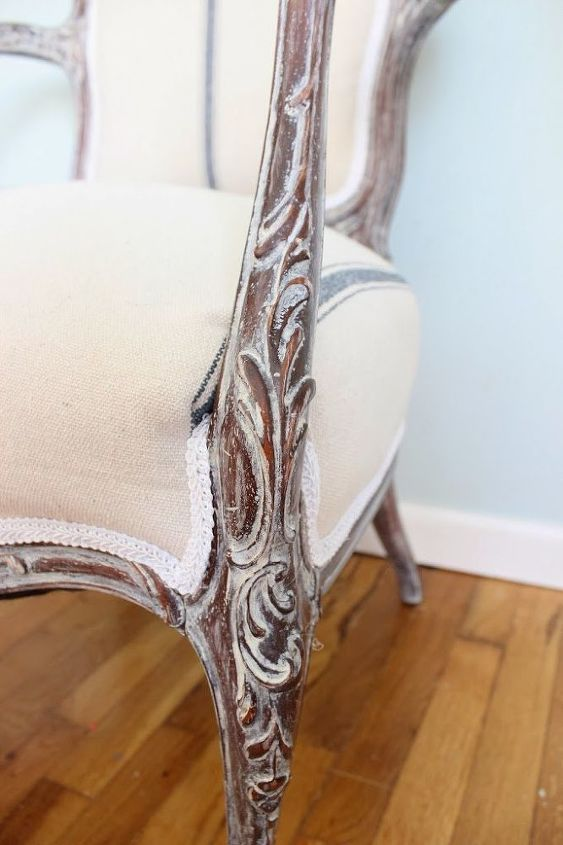french chair repair and makeover, painted furniture, reupholster