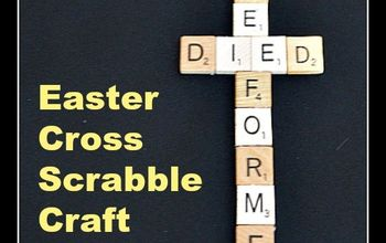 Easter Cross Scrabble Craft