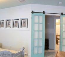 reclaimed french doors on rolling door hardware fixerupperstyle, bedroom ideas, diy, doors, painting