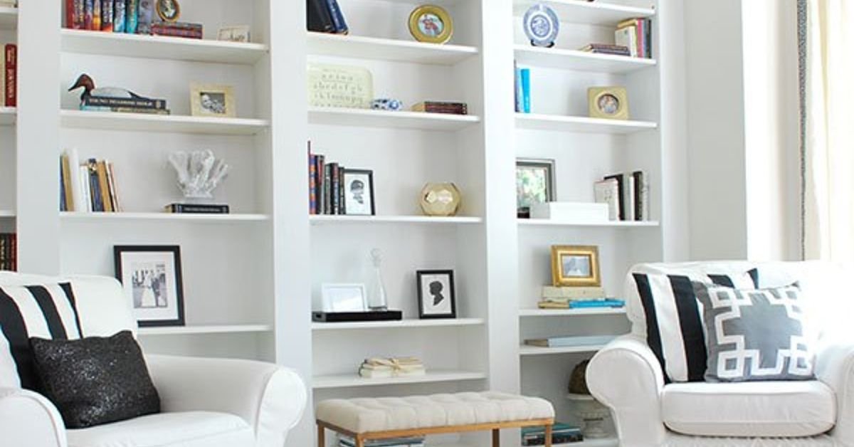 Rooms: Create The Look Of High-End Built-In Bookcases On An Empty