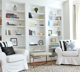 Create The Look Of High End Built In Bookcases On An Empty Wall, Dining Room