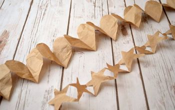 diy paper hearts and stars garlands, crafts, Old fashioned garlands like Ma Ingalls