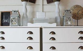 ikea hack tarva dresser turned printers console style buffet, painted furniture