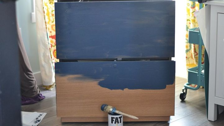 a new life for an old filing cabinet, chalk paint, painted furniture