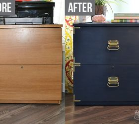 A New Life for an Old Filing Cabinet | Hometalk