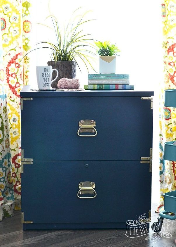 A New Life For An Old Filing Cabinet Chalk Paint Painted Furniture