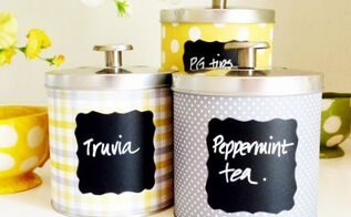 diy tin can containers and organizers, chalkboard paint, crafts