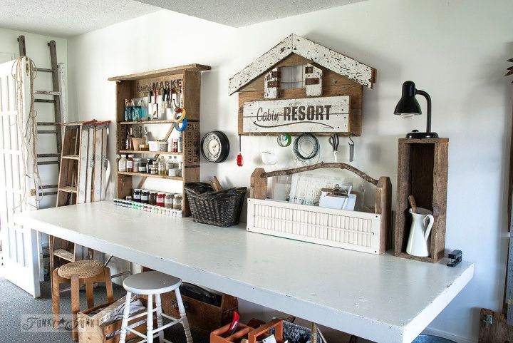 A Rustic Office on a Wall... Thanks to a Few Old Signs | Hometalk