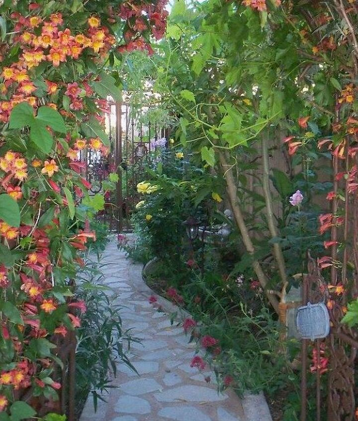 s 9 budget ways to make your walkway look even better than last year, concrete masonry, gardening, Lay down shards of broken concrete