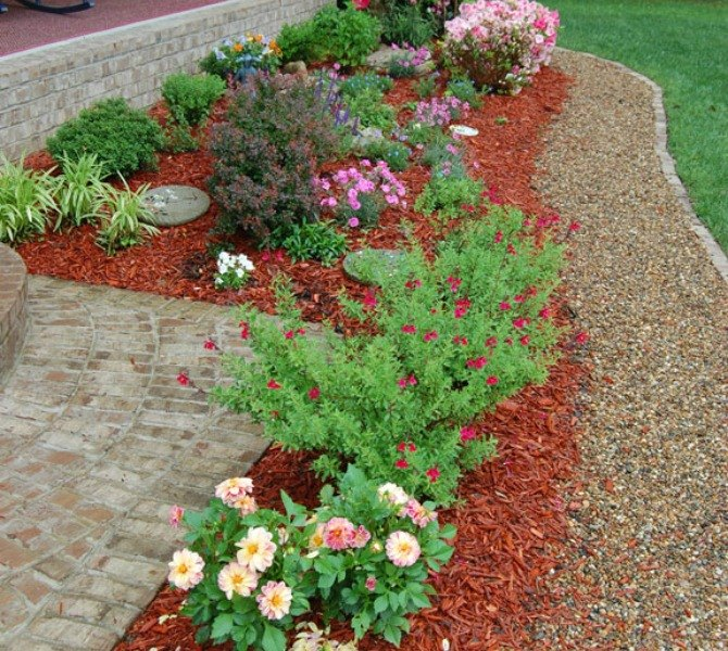 s 9 budget ways to make your walkway look even better than last year, concrete masonry, gardening, Add a walkway as a flower bed border