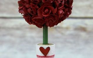 how to make a mini rose topiary, crafts, flowers, home decor