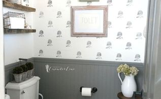 french rustic powder room, bathroom ideas, painting
