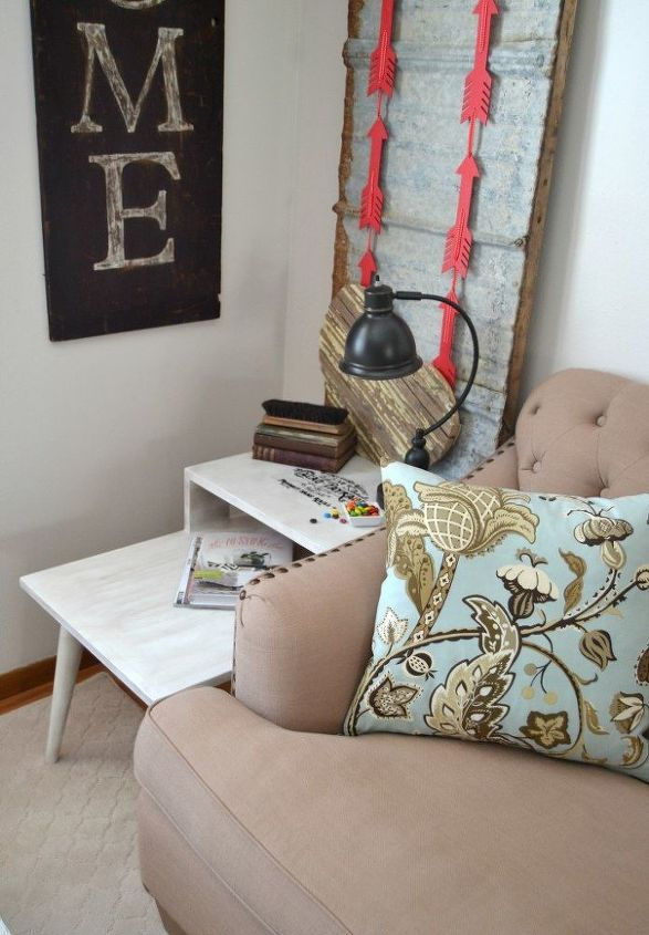 chocolate inspired end table makeover themed furniture makeover, painted furniture