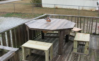 porch table, outdoor furniture, pallet