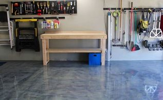 garage floor metallic coating, concrete masonry, diy, flooring, garages, painting