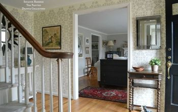 Stencil or Wallpaper My Foyer? Stencil Was the Way To Go!