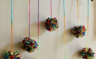 diy pom pom branch, crafts